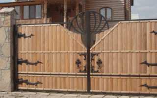 Распашные ворота для дачи — 88 фото идей оформления и украшения