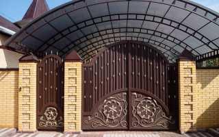 Ворота: фото идеи красивого дизайна ворот и калиток для частного дома