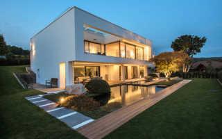 Дома в стиле хай-тек (79 фото): лучшие проекты одноэтажных каркасных домов с плоской крышей