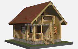 Проекты бань с мансардой (76 фото): дом-баня с верандой или террасой размером 6х6 и 6х8,