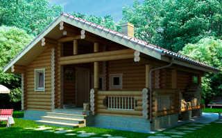 Проекты бань из бревна (82 фото): дом с банькой из оцилиндрованного сруба, чертежи рубленных бань