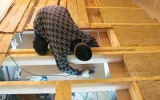 Утепление потолка в доме с холодной крышей: как утеплить в частном доме своими руками, как