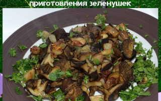 Как солить и мариновать грибы зеленушки на зиму: рецепт