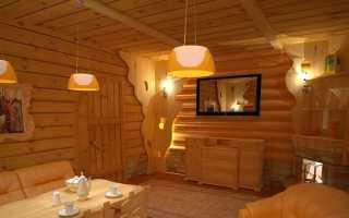 Комната отдыха в бане (86 фото): дизайн интерьера помещения для отдыха внутри бани, отделка строения