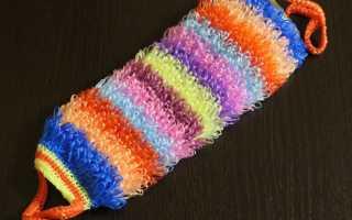 Мочалка крючком: схема с вытянутыми петлями пошагово