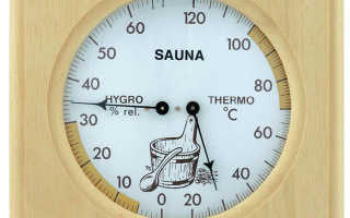 Как выбрать и установить термометр в бане