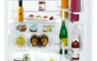 Стандартная глубина холодильника: 40, 45, 50, 55, 60 см