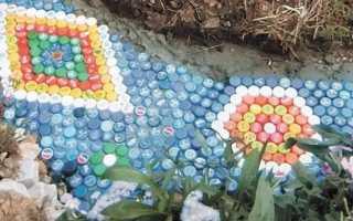 Садовые дорожки из пластиковых бутылок своими руками: фото, видео