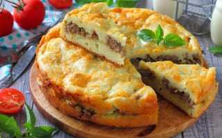 Заливной пирог с картошкой на кефире: пошаговый рецепт с фото