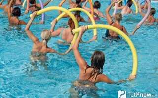 Аквааэробика для похудения: преимущества занятий