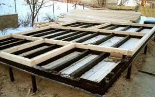 Полы в бане на свайном фундаменте — как сделать, утеплить и видео