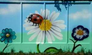 Как сделать рисунки на заборе на даче своими руками: фото и идеи