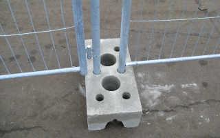 Возведение временных ограждений строительных площадо