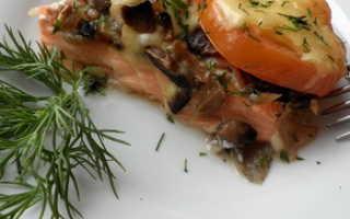 Рыба с грибами в духовке — изысканное и ароматное блюдо
