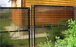 Инструкция: забор из поликарбоната на металлическом каркасе своими руками
