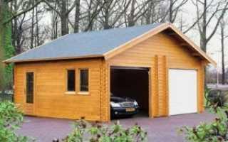 Строительство гаража из досок самостоятельно