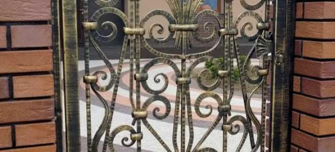 Кованые калитки — 85 фото основных разновидностей и варианты украшений