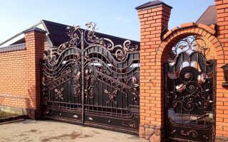Кованые ворота (95 фото): ковка своими руками, красивые ажурные распашные заборы и эскизы калитки