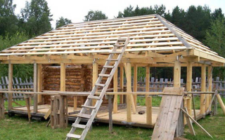Четырехскатная крыша для беседки: обзор конструкций + выбор покрытия