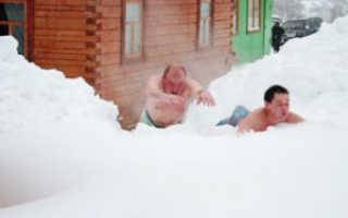 Обтирание снегом: польза и вред