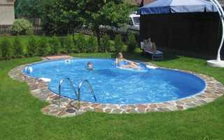 Недорогой бассейн для дачи, види и особенности — фото примеров