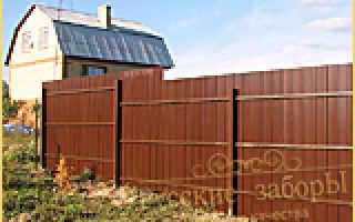 Ремонт забора из профнастила, деревянного, бетонного и столбов на даче: цена