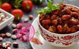 Фасоль с грибами в томатном соусе: фото рецепт постного блюда
