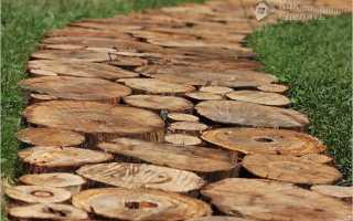 Дорожки из дерева своими руками — фото, примеры, схема установки