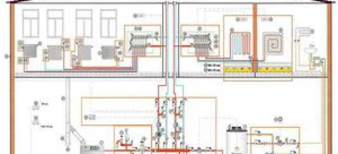 Схема отопления для 2-х этажного частного дома: система разводки «теплый» пол, примеры проектов своими руками
