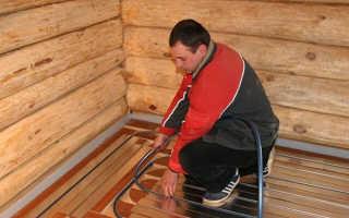 Как правильно сделать теплый пол в бане своими руками (от печки, под плитку)