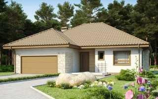 Одноэтажные дома с гаражом (48 фото): постройки с гаражными конструкциями под одной крышей, деревянные и