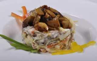 Салат с шампиньонами: рецепты приготовления салатов с грибами шампиньонами