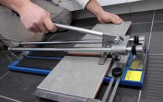 Как резать плитку плиткорезом: видео, как правильно пользоваться устройством при ремонте