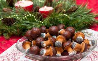 Печенье Грибочки — 7 рецептов приготовления в форме на газу и без формы во фритюре
