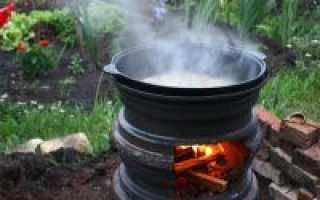 Печка из автомобильных дисков своими руками: для казана, бани и барбекю — как сделать из