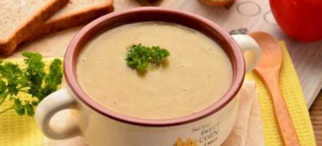 Суп-пюре из сушеных грибов — рецепт со сливками и картофелем, фото