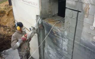 Резка дверных проёмов в стене: кирпич, бетон, методы, усиление