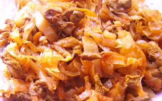 Капуста, с лисичками: фото, рецепты, как приготовить грибы с тушеной и жареной капустой