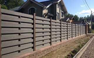 Забор из ДПК: фото, цена, монтаж и отзывы