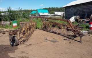 Грабли ворошилки своими руками самодельные для сена на трактор: фото и чертежи