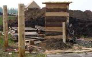 Деревянные столбы для забора: как установить, обработка от гнили