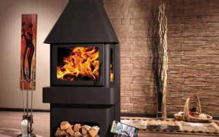 Печь камин длительного горения для дачи: на дровах, угле, брикетах