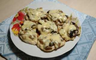 Куриная грудка с грибами (на сковороде, в духовке): рецепты
